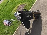 King Snake Golf Irons 3-PW + Dunlop Driver, 5 wood & 3 wood +Cobra Stand Bag