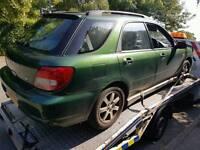 Breaking Subaru Impreza wagon bugeye non turbo Green