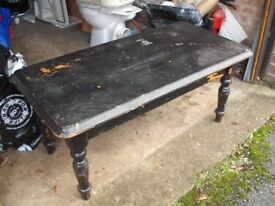 Heavy Wooden Coffee Table (needs stripping) Good Condition