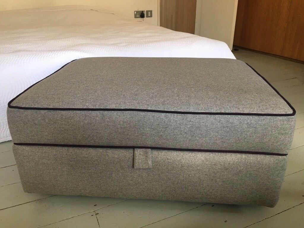 Ottoman with Storage by Made - Wolseley in Grey Flannel