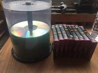 Rewritable dvds, cds and 8 Blank cassette tapes
