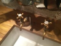 Solid brass kitchen taps