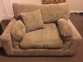 Light brown/beige Snuggle Arm Chair