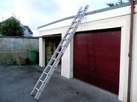 Youngmans 100 aluminium light weight double extension ladder