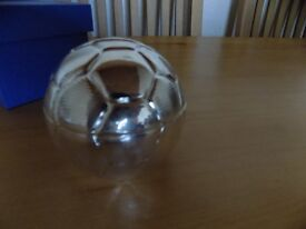 SILVER PLATED FOOTBALL BANK