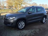 VW Tiguan, 2014, 2.0, BlueMotion Tech, Match, Sat Nav, leather, full VW service history, great car