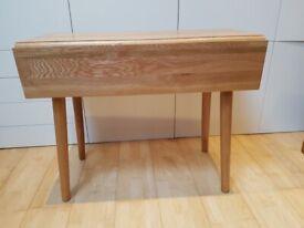 Solid oak small gateleg dining table