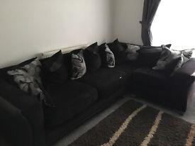 Left handed corner sofa and swivel chair
