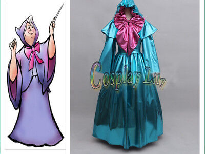 Cinderella Fairy Godmother Dress Outfit Costume Adult Women's Halloween Cosplay# (Adult Cinderella Outfit)