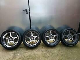 "Original Toyota Celica 16"" alloy wheels w/tyres"