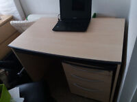 Large Ikea desk and drawers