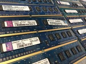 MÉMOIRE D'ORDINATEUR PC TOUR ET SERVEUR DDR1 DDR2 DDR3 1GB 2GB 4GB