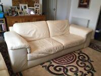 3 Seater Sofa (Cream/White)