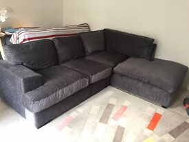 comfy 3 seater corner fabric sofa for sale