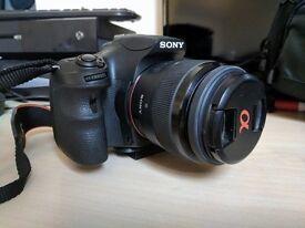 DSLR Sony A58 Camera, 2 Lenses & Tripod
