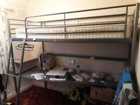 Ikea loft / cabin bed with desk