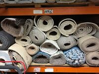 Carpet Remnants off cuts Vinyl laminate All Brand New Underlay Gripper Door Bars