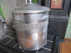 Coal Bucket - Vintage - Chrome/metal