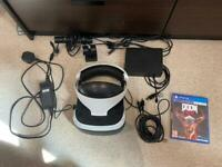 Playstation PS VR V2 headset + PS Camera + 2 PS Move controllers + 1 game (Doom VR) for PS4 / PS5