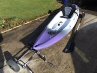 Perception Scooter Kayak, New hi back seat, paddle and transport wheels - excellent condition