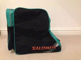 Ski boot bag Salomon green and black very good condition.