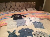Baby boy clothes 0-3 & 3-6 months basically brand new most only worn once some never at all.