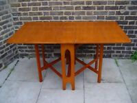 FREE DELIVERY Wooden Gate leg Table Retro Furniture