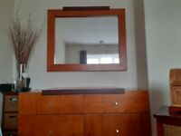 FREE Solid pine chest of drawer with mirror