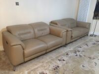 Furniture Village Sanza 2 x pure leather 2 seater Power Reclining sofas USB costed £ 4500 1 year ago