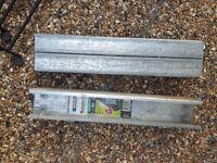 Galvanised steel fence / sleeper joiner posts x8