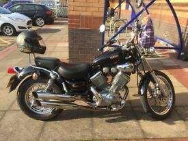Yamaha virago 535cc black. 12 months mot. Good runner