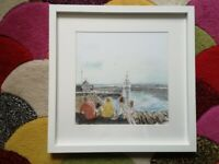 When the Boat Comes In. Framed art print
