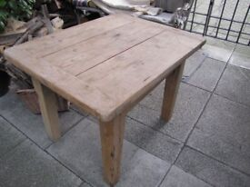 Solid pine wooden low table