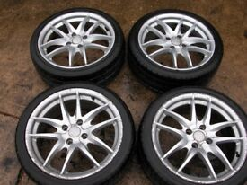 FORD ALLOY WHEELS X4 17 INCH 4 STUD FIXING WITH TYRES