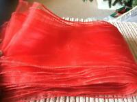 69 Red Organza Sashes