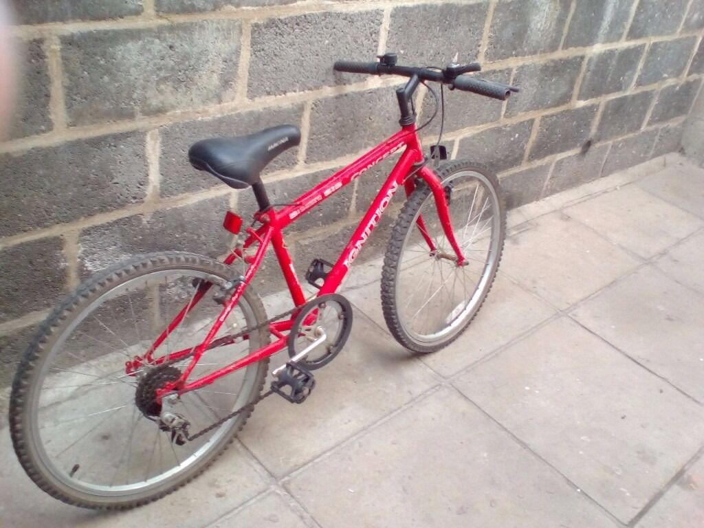red bike 24in alloy wheels with gears £25.00 pounds £20 if gone today