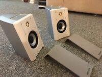 monitor audio speakers in white