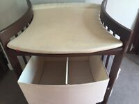 STOKKE Care baby changing table, walnut colour, in great shape. SW London.