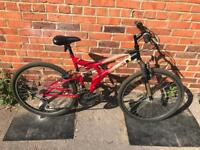 Universal Polaris Full Suspension Mountain Bike. Serviced, Free Lock, Lights, Delivery