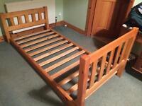 Wooden bed frame single bed