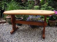 Oval Topped,Solid Pine,Coffee Table.