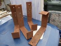 set of steel brackets ideal for ladders or other heavy items
