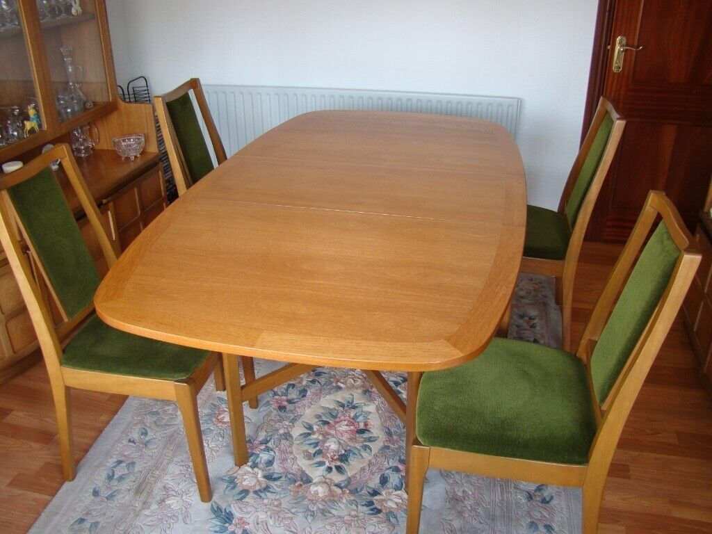 Nathan Fold Down Dining Table With 4 Chairs In New
