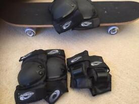 Children's skateboard and safety pads