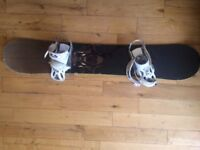 156 Forum Snowboard Burton Custom Bindings and Dakine board bag