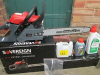One week old Sovereign 37cc 2 stroke petrol chainsaw
