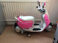 Child's powered motor bike with working lights and indicators. In perfect working order.