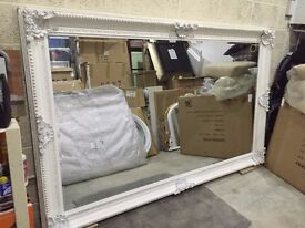 NEW HUGE White Oblong Leaner Full Length Wall Mirror 8 x 5ft Large Big Rococo Big Hall Loung Bedroom