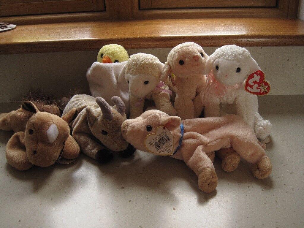 Ty Beanie Baby Farm Animals