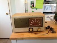 Old vintage radio with extra tubes